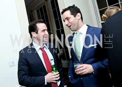 Jake Cusack, John Doyle. Photo by Tony Powell. A Night of Arctic Cool. Norwegian Ambassador's Residence. March 17, 2014