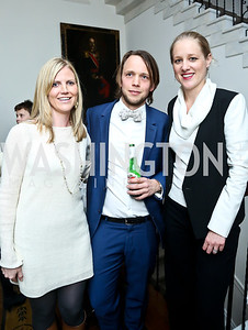 Astri Kimball, Olav Heian-Engdal, Clara Brillembourg Chopivsky. Photo by Tony Powell. A Night of Arctic Cool. Norwegian Ambassador's Residence. March 17, 2014