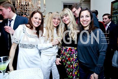 Halie Soifer, Marte Heian Engdal, Kine Hartz, Sarah Murphy. Photo by Tony Powell. A Night of Arctic Cool. Norwegian Ambassador's Residence. March 17, 2014