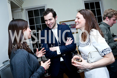 Sarah Murphy, Ben Powell, Halie Soifer. Photo by Tony Powell. A Night of Arctic Cool. Norwegian Ambassador's Residence. March 17, 2014
