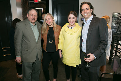Mark Strauss, Jennie Buehler, Natalie Grasso, John Mansour. Photo by Alfredo Flores. A Tourist of Saints Book Launch at Malmaison‏. Malmaison. April 17, 2014