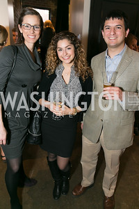 Elizabeth Roloff, Stefana Scinta, Francis D'Andrea. Photo by Alfredo Flores. A Tourist of Saints Book Launch at Malmaison‏. Malmaison. April 17, 2014