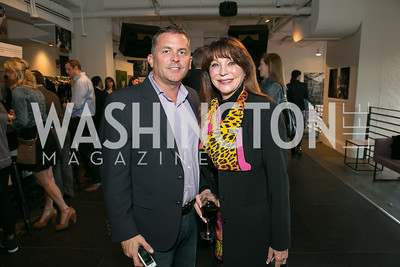 Troy Barton, Janice Dodd. Photo by Alfredo Flores. A Tourist of Saints Book Launch at Malmaison. Malmaison. April 17, 2014