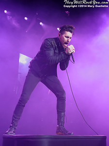 AFI perform on August 16, 2014 at the Comcast Center in Mansfield, MA