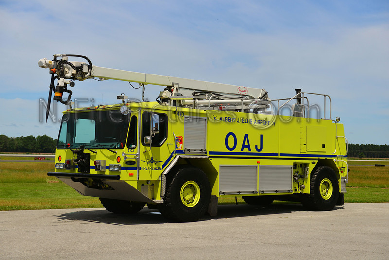 ONSLOW COUNTY, NC ALBERT J. ELLIS AIRPORT CRASH 1 - 2001 EMERGENCY ONE TITAN HPR/SNOZZLE 2000/1500/200AFFF/500PKP/55'