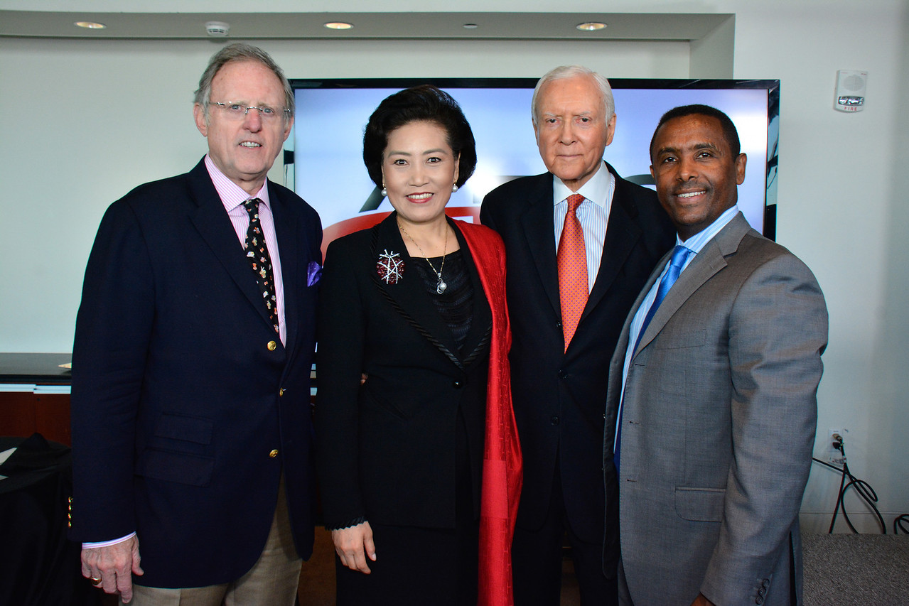 C. Michael Simpson; Tian Linzhi; Orrin Hatch