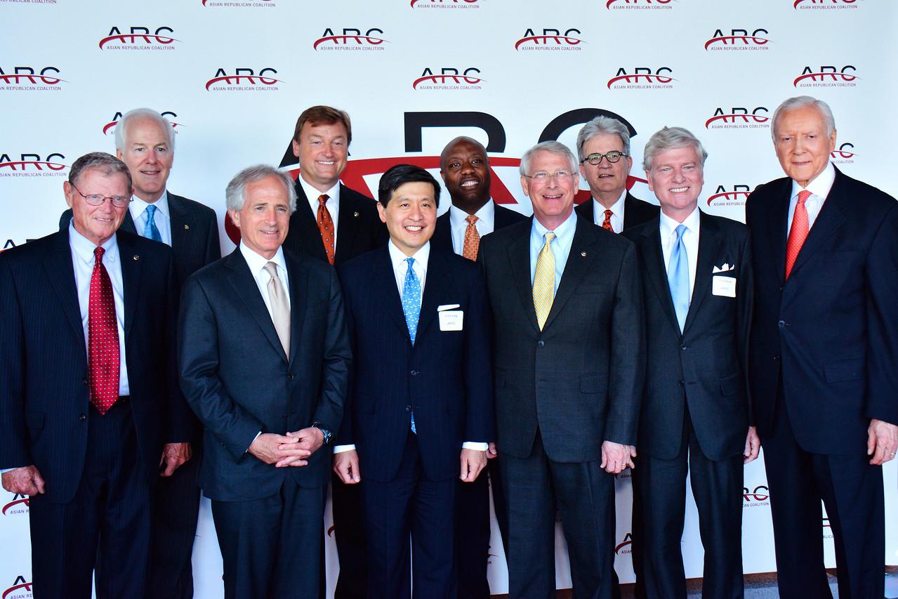 Jim Inhofe; John Cornyn; Bob Corker; Dean Heller; John Ying; Tim Scott; Roger Wicker; Tom Coburn. Tom Britt; Orrin Hatch