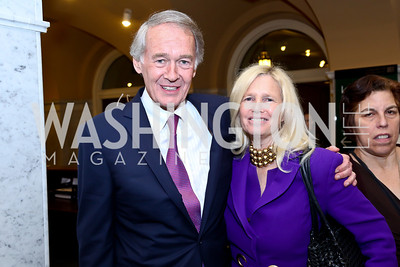 "Sen. Ed Markey and Susan Blumenthal. Photo by Tony Powell. ASCAP's 100th Anniversary ""We Write the Songs."" Library of Congress. May 6, 2014"