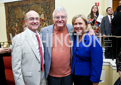 "Frank Snellings, Randy Newman, Sen. Mary Landrieu. Photo by Tony Powell. ASCAP's 100th Anniversary ""We Write the Songs."" Library of Congress. May 6, 2014"