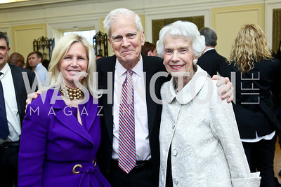 "Susan Blumemthal, Librarian of Congress James Billington and Marjorie Billington. Photo by Tony Powell. ASCAP's 100th Anniversary ""We Write the Songs."" Library of Congress. May 6, 2014"