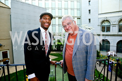 "Jon Batiste, Randy Newman. Photo by Tony Powell. ASCAP's 100th Anniversary ""We Write the Songs."" Library of Congress. May 6, 2014"