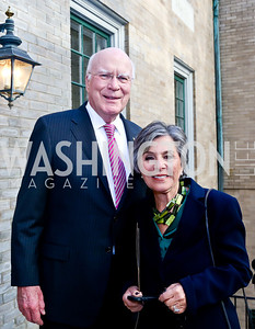 "Sen. Patrick Leahy, Sen. Barbara Boxer. Photo by Tony Powell. ASCAP's 100th Anniversary ""We Write the Songs."" Library of Congress. May 6, 2014"