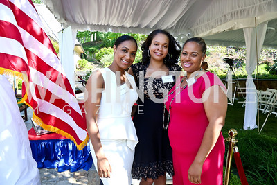 Sophia Stafford, Mary Stone, Jessica Stafford. Photo by Tony Powell. Africare Fundraising Reception. Stafford Residence. May 18, 2014