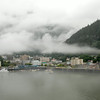 Juneau City Front in the port near the seaplane and passenger landing docks.