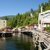 The famous Creek Street in Ketchikan. Home of Dolly and her girls as well as other merchants in trade.