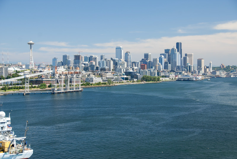 Seattle  - The beginning of our cruise aboard the Celebrity Solstice to Alaska.