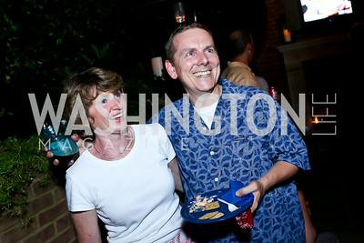 "Catherine and Bob Blakley. Photo by Tony Powell. ""American Grilled"" Premiere Party. Evans Seiver Residence. July 2, 2014"