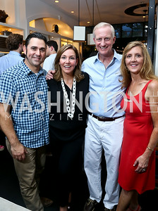 "David Guas, Michele Seiver, Jack Evans, Simone Guas. Photo by Tony Powell. ""American Grilled"" Premiere Party. Evans Seiver Residence. July 2, 2014"