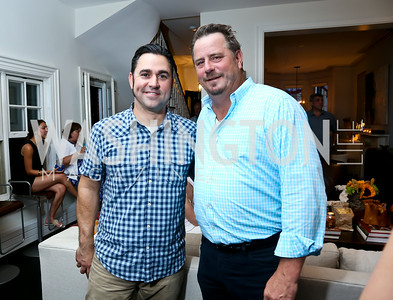 "David Guas, Robert Wiedmaier. Photo by Tony Powell. ""American Grilled"" Premiere Party. Evans Seiver Residence. July 2, 2014"