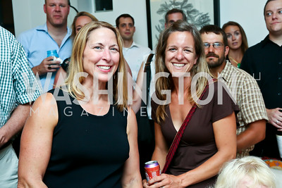 "Cathy Moortgat, Stacey Carlberg. Photo by Tony Powell. ""American Grilled"" Premiere Party. Evans Seiver Residence. July 2, 2014"