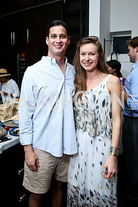"JJ Nagle, Kerie Kerstetter. Photo by Tony Powell. ""American Grilled"" Premiere Party. Evans Seiver Residence. July 2, 2014"