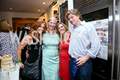 "Pam Schiff, Elaine Clancy, Simone Guas, Travel Channel Executive producer Patrick  McManamee. Photo by Tony Powell. ""American Grilled"" Premiere Party. Evans Seiver Residence. July 2, 2014"
