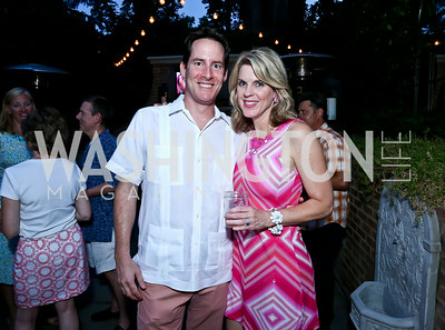 "Thomas Espy and Holly Morris. Photo by Tony Powell. ""American Grilled"" Premiere Party. Evans Seiver Residence. July 2, 2014"