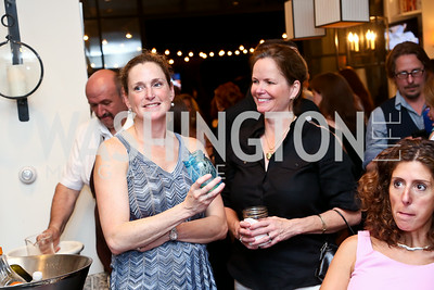 "Annalena Winer, Kathleen Porter. Photo by Tony Powell. ""American Grilled"" Premiere Party. Evans Seiver Residence. July 2, 2014"