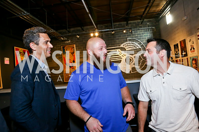 "Mike Farah, Chris Neild, Mike Barwis. Photo by Tony Powell. ""American Muscle"" Screening. Angelika Pop Up. June 27, 2014"