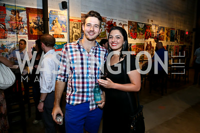 "Will Boyd, Sarah Morgan. Photo by Tony Powell. ""American Muscle"" Screening. Angelika Pop Up. June 27, 2014"