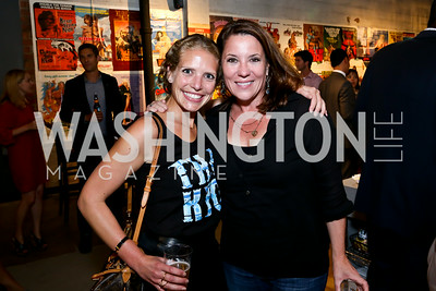 "Amelia Gingold, Kimball Stroud. Photo by Tony Powell. ""American Muscle"" Screening. Angelika Pop Up. June 27, 2014"