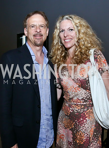 "Andy Kushner, Jennifer Vinson. Photo by Tony Powell. ""American Muscle"" Screening. Angelika Pop Up. June 27, 2014"