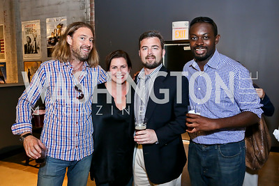 "Michael Mateer, Erica Payne, Gene Haigh, Yanick Saila-Ngita. Photo by Tony Powell. ""American Muscle"" Screening. Angelika Pop Up. June 27, 2014"