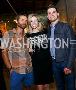 "Paul Delzer, Allyson Parson, Paul Medina. Photo by Tony Powell. ""American Muscle"" Screening. Angelika Pop Up. June 27, 2014"