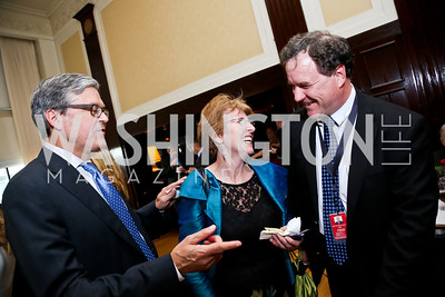 John Harwood, Meredith and Matthew Daly. Photo by Tony Powell. Gwen Ifill Roast. Press Club. May 19, 2014