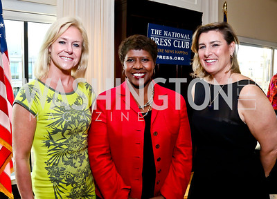 ANWC Chair Julie Chase, Gwen Ifill, ANWC President Claire Swift. Photo by Tony Powell. Gwen Ifill Roast. Press Club. May 19, 2014