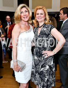 Phoebe Eliopoulos, Theresa Werner. Photo by Tony Powell. Gwen Ifill Roast. Press Club. May 19, 2014