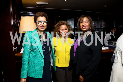 Sheryll Cashin, Cheryl Cooper, Pamela Hosey. Photo by Tony Powell. Gwen Ifill Roast. Press Club. May 19, 2014