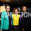 Sheryll Cashin, Cheryl Cooper, Pamela Hosey. Photo by Tony Powell. Gwen Ifill Roast. Press Club. May 19, 2014