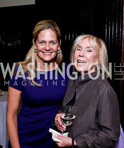 Kristen Olson, Marion Mattingly. Photo by Tony Powell. Gwen Ifill Roast. Press Club. May 19, 2014