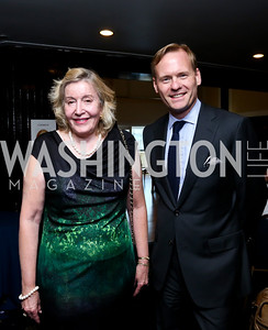 Jean White, Slate Magazine Chief Political Correspondent John Dickerson. Photo by Tony Powell. Gwen Ifill Roast. Press Club. May 19, 2014