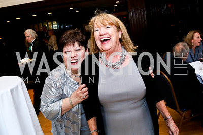 Margot Raphael, Eileen Higgins. Photo by Tony Powell. Gwen Ifill Roast. Press Club. May 19, 2014