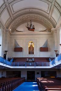 The historic Naval Academy Chapel.