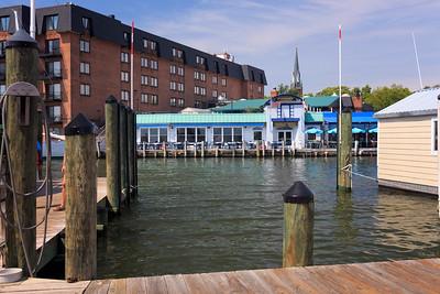 The docks across from Pusser's Landing.