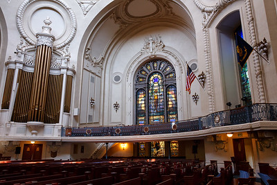 The historic Naval Academy Chapel.