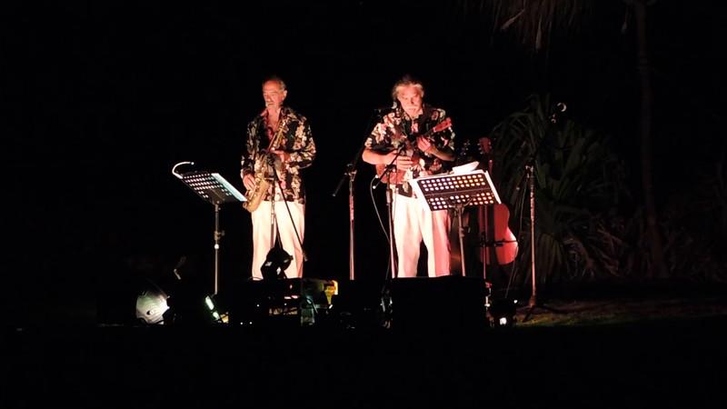 Pili Aina Medley by Apokolani.  Keoki Apokolani Carter, Paul Lindbergh & Yvonne Yarber Carter at Kalaemano