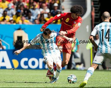 Lionel Messi, Marouane Fellaini