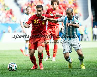 Eden Hazard, Javier Mascherano