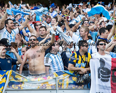 Argentina fans celebrate after the game