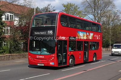 T132, LJ10HUA, Arriva London South